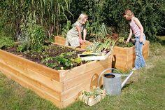 Raised Vegetable Garden Beds Can Be A Great Gardening Option – Handy Garden Wizard Building A Raised Garden, Raised Garden Beds, Green Terrace, Tiered Garden, Garden Structures, Growing Plants, Dream Garden, Garden Projects, Garden Ideas