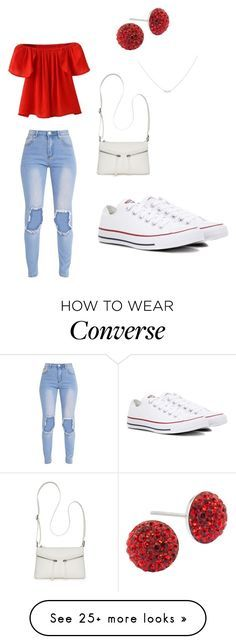 """""""Untitled #49"""" by yas29 on Polyvore featuring Converse, Bueno, Bridge Jewelry and Accessorize"""
