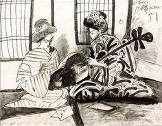 """Pablo Picasso: """"Two Japanese Women"""" (1951)."""