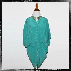 falls clothing $24.99  http://www.thealchemyshop.com/collections/one-chance/products/falls-turquoise-blouson-blouse