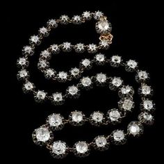 diamond riviere necklace by Cartier. King Rama V bought this necklace from Cartier in the occasion of his 1897 first Europe Tour and gave it as a present to Queen Sawang Vadhana.
