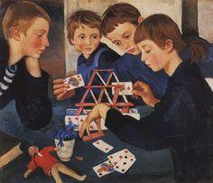 """House of Cards — Zinaida Serebriakova """