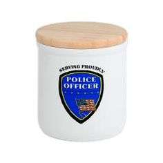 Police Serving Proudly Cookie Jar