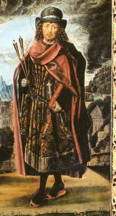 15th C. Bartomolé Bermejo,  Tryptich of the Cathedral de Acqui Terme, . detail