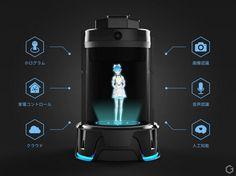 ウィンクルは、好きなキャラクターと一緒に暮らせる世界初のホログラムコミュニケーションロボット「Gatebox」のコンセプトモデルを開発しました。