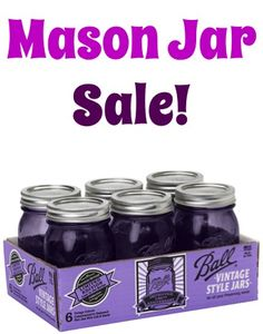 Pretty Purple Ball Heritage Mason Jar Set of 6 Sale: $10.69! - Vintage Style Mason Jars.  Aren't they SO gorgeous?!? | TheFrugalGirls.com