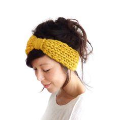 Chunky Knit Turban Headband