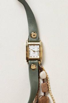 Sage Washed Wrap Watch - anthropologie.com