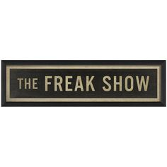 The Freak Show now featured on Fab.
