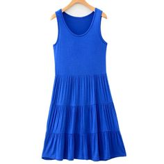 Generic Women's Modal Casual Pleated Tank Dress ** Insider's special review you can't miss. Read more  : Evening dresses