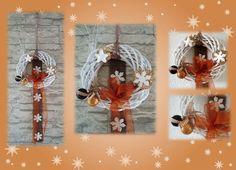 Weihnachtlicher Tür-/Wandkranz von Elkes Kreativstübchen auf DaWanda.com