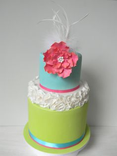 LOVE this, sweet and simple, but with colurs that pop! Just call me Martha: Babushka and bright cakes Fondant Cake Designs, Fondant Cakes, Cupcake Cakes, Gorgeous Cakes, Pretty Cakes, Amazing Cakes, Haute Cakes, Bright Cakes, Fantasy Cake