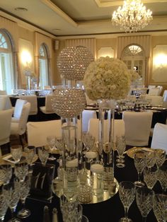Crystal ball. Centerpiece