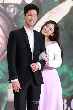 Park Bo Gum & Kim Yoo Jung at Moonlight Drawn by the Clouds press con ~ they look so adorable together