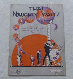 That Naughty Waltz  vintage sheet music dated by landsTreasures