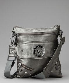 Pewter Fancy Crossbody Bag