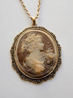 Cameo Necklace- can someone please buy me a real vintage cameo necklace?