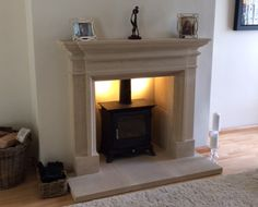 This installation comprised of the Burlington Surround with the Beaumont 8 Stove…