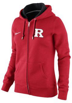 Nike Rutgers Scarlet Knights Womens Red Classic Zip Hoodie