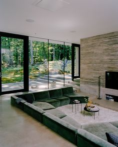 Dream Home Design, Modern House Design, My Dream Home, Home Interior Design, Exterior Design, Interior Architecture, Sunken Living Room, My Living Room, Casa Hygge