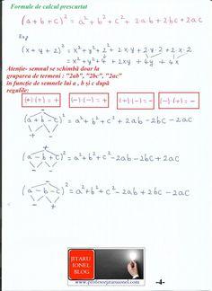 Formule de calcul prescurtat: teorie + exemple (exercitii rezolvate matematica gimnaziu) – #JitaruIonelBLOG -pregatire BAC si Evaluarea Nationala 2020 la matematica si alte materii! *materiale (lectii +formule +exercitii rezolvate matematica) gimnaziu si liceu; *edu.ro modele BAC 2020 modele Evaluare Nationala 2020; *modele simulare Evaluare Nationala BAC 2020 2019 2018 2017 2016 2015 2014 2013 2012 2011 2010 subiecte.edu.ro; Modele comper 2020; evaluare nationala clasele 2 4 6 modele 2020; *tit Algebra, Bullet Journal, Notes, Education, Math, Blog, Calculus, Report Cards, Math Resources