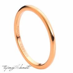 Tungsten Carbide Rings High Polish Rose by TyingTheKnotbyClaude