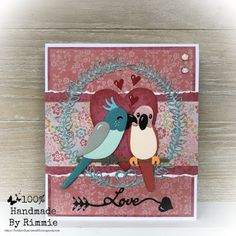 Handmade By Rimmie: Love! Marianne Design Cards, Summer Picnic, Budgies, Pop Up Cards, Parakeet, Samar, Just Married, Love Birds, Color Schemes
