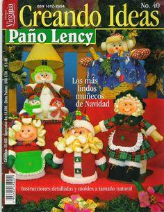 revistas de manualidades gratis Xmas Crafts, Book Crafts, Crafts To Do, Hobbies And Crafts, Felt Crafts, Christmas Books, All Things Christmas, Christmas Holidays, Christmas Ornaments