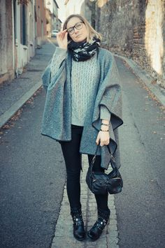 street look french blogger Artlex / fashion blog /black and grey