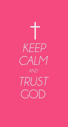 Trust God! He knows what he is doing :)