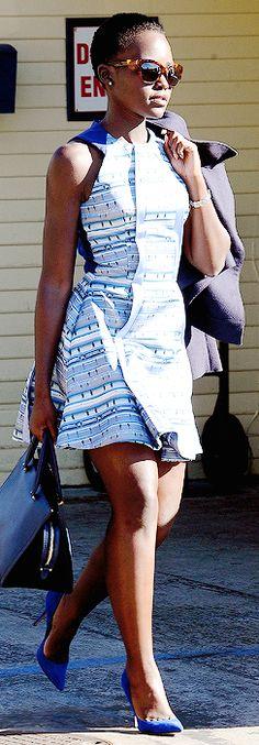 Lupita Nyong'o at Moonshadows Restaurant in Malibu