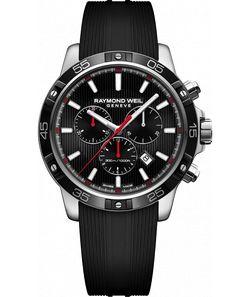 RAYMOND WEIL Genève > Tango 8560-SR1-20001 Mens Watches - Quartz chronograph tango 300, steel on rubber strap   RAYMOND WEIL Genève Luxury Watches > Swiss Luxury Watches