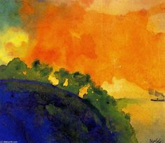 Emil Nolde - great German painter called a 'degenerate' artist by Hitler....