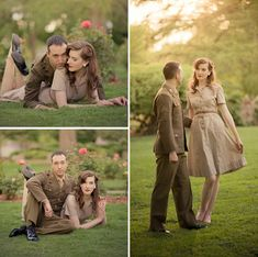 Military Vintage Inspired Engagement Shoot by Finished Vision Photography  I can sooo see Madison Wynn doing this. its just you style