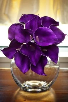 Purple Real Touch Calla Lily Bouquet