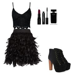 """""""#Look24"""" by mariaisabelsousa on Polyvore featuring moda, Jeffrey Campbell, Alice + Olivia, Smashbox, Bobbi Brown Cosmetics e Narciso Rodriguez"""
