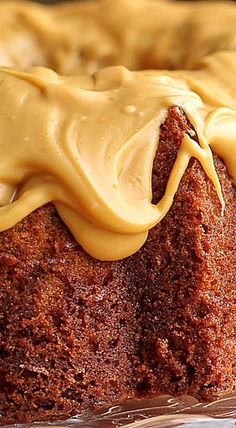 Butterscotch Pecan Bundt Cake with Salted Caramelized White Chocolate Glaze❊