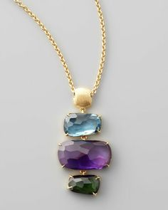 Murano Multi-Stone Pendant Necklace by Marco Bicego at Neiman Marcus.