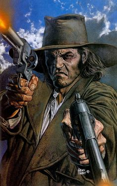 Saint of Killers screenshots, images and pictures - Comic Vine PREACHER Comic Book Artists, Comic Books Art, Comic Art, Western Comics, Horror Comics, Dc Comics, Comic Book Villains, Digital Foto, Vertigo Comics