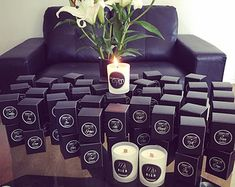 Personalised Soy Candle Wedding Favours