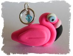 Remember to order thks in the morning Polymer Clay Pretty Pink Flamingo Charm