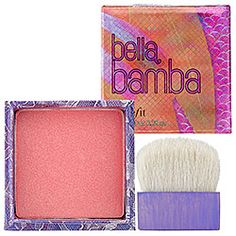 benefit Bella Bamba watermelon-pink blush laced with gold undertones