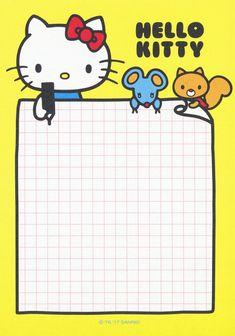Sanrio Hello Kitty Memo w/ Stickers Hello Kitty My Melody, Sanrio Hello Kitty, Memo Template, Memo Notepad, Cute Notes, Hello Kitty Birthday, Hello Kitty Wallpaper, Line Friends, Cute Cartoon Wallpapers