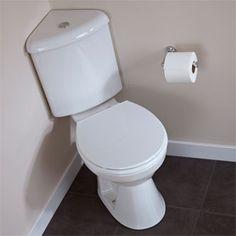 Regent DualFlush Corner Toilet White Elongated Bowl dream