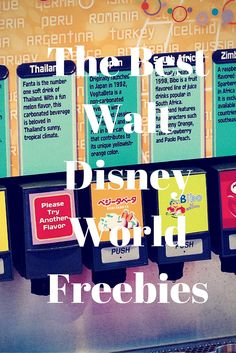 The Best Walt Disney World Freebies!!! The best things in Life are free, especially at Walt Disney World ;)