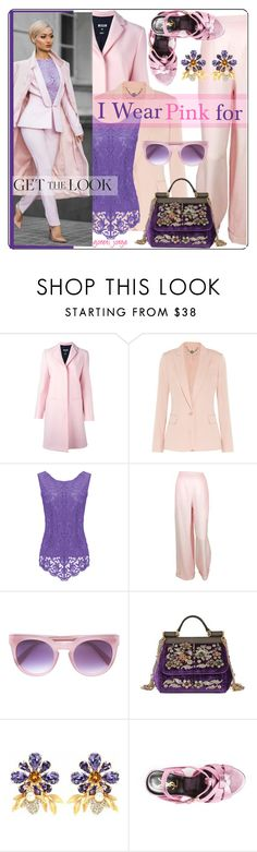 """I Wear Pink for"" by goreti ❤ liked on Polyvore featuring MSGM, STELLA McCARTNEY, Chanel, Derek Lam, Dolce&Gabbana, Yves Saint Laurent and IWearPinkFor"