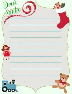 Shabby Art Boutique Santa Wish List  Seasonal    Santa