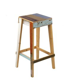 SCRAPWOOD BAR STOOL