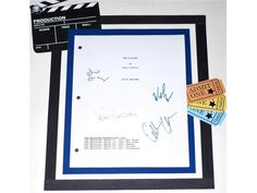 The X-FILES Pilot Episode TV Script Signed Autographed: David Duchovny, Gillian Anderson, William B. Davis, Leon Russom