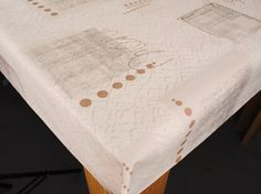 Beige Squiggle On Natural PVC Oilcloth Tablecloth 200 X 137cm Karina Home®  Http:/
